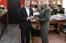 Συνάντηση περιφερειάρχη Θεσσαλίας με το νέο διοικητή της 1ης Ταξιαρχίας Αεροπορίας Στρατού