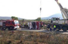 Δεκατρείς νεκροί σε σύγκρουση τουριστικού λεωφορείου με φοιτητές στην Ισπανία