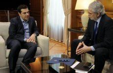 Συνάντηση  Χρήστου Στυλιανίδη με τον  πρωθυπουργό Αλέξη Τσίπρα