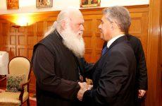 Συνάντηση Αρχιεπισκόπου Αθηνών και Πάσης Ελλάδος κ.κ. Ιερώνυμου με τον πρόεδρο της ΕΝΠΕ Κώστα Αγοραστό
