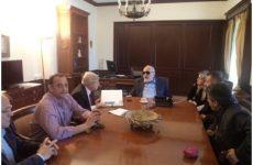 Συνάντηση  δημοτικής αρχής με τον υπουργό Εσωτερικών Π. Κουρουμπλή