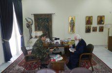 Επίσκεψη του νέου Δ/κτού της 32ης Ταξιαρχίας Πεζοναυτών στον Σεβασμιώτατο