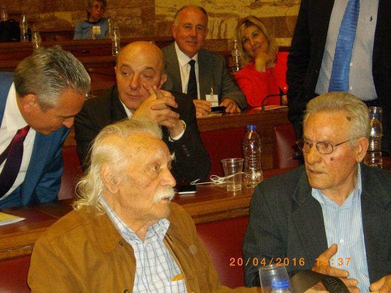 Σε εκδήλωση στη Βουλή για κατοχικά εγκλήματα πολέμου και οφειλές ο δήμαρχος Ρ.Φεραίου