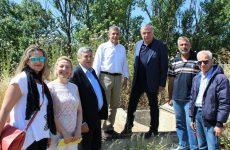 Στα έργα ύδρευσης Πλατυκάμπου και  Γλαύκης  περιφερειάρχης Θεσσαλίας και  δήμαρχος Κιλελέρ
