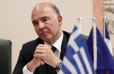 Μοσκοβισί: Ελάφρυνση του ελληνικού χρέους με δύο κόκκινες γραμμές