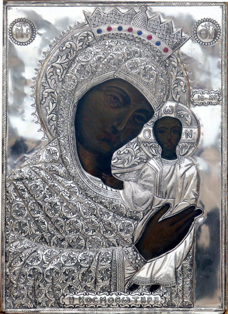 Η Ιερά Εικόνα της Παναγίας Κοσμοσώτειρας Έβρου στην Ανάληψη