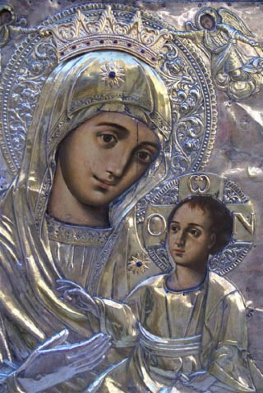 Η Ιερά Εικόνα της Παναγίας Ομπλού, από την Ι.Μ. Εισοδίων της Θεοτόκου Ομπλού Πατρών, στην Ανάληψη