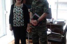 Συνάντηση υφυπουργού ΥΠΟΜΕΔΙ με τον νέο διοικητή της 32ης Ταξιαρχίας Πεζοναυτών