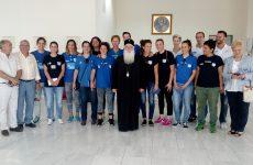Επίσκεψη Εθνικής ομάδος καλαθοσφαίρισης γυναικών κωφών στον Σεβασμιώτατο