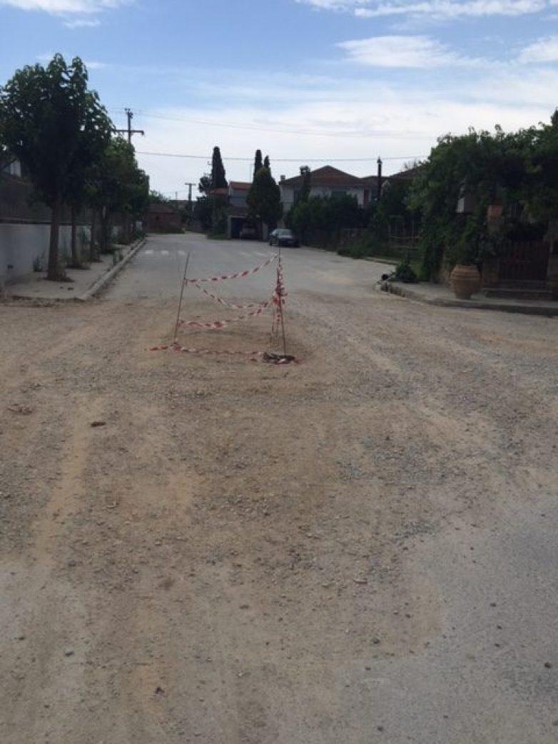 Μετά το τέλος εργασιών της ΔΕΥΑΜΒ  η ασφαλτόστρωση και διαγράμμιση του δρόμου Βόλου -Αγριάς