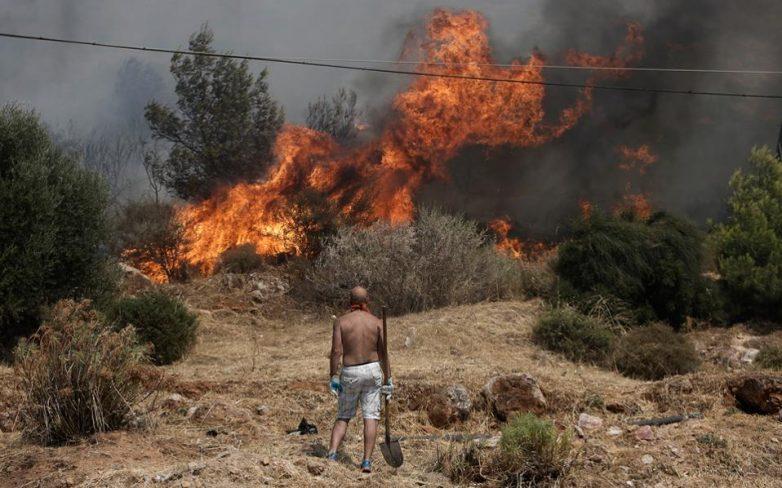 Φωτιά σε οικόπεδο στις Αλυκές