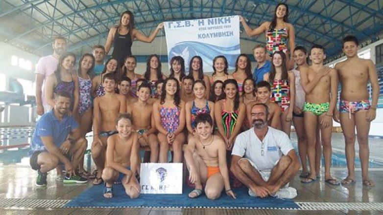 """""""Σάρωσαν"""" τα μετάλλια οι νεαροί κολυμβητές  της ΝΙΚΗΣ"""