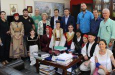 Εθιμοτυπική επίσκεψη στην Περιφέρεια Θεσσαλίας των αποστολών του 3ου διεθνούς φεστιβάλ παραδοσιακών χορών