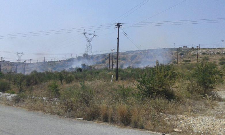 Φωτιά στο Αλιβέριχθες βράδυ