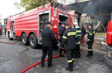 Κάηκε σκεπή τριώροφης κατοικίας από τζάκι