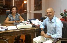 Συνάντηση Μαρίνας Χρυσοβελώνη-προέδρου Συμβολαιογραφικού Συλλόγου Εφετείου Λάρισας