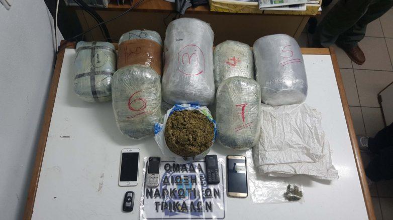 Συνελήφθησαν με μεγάλη ποσότητα κάνναβης στα Τρίκαλα