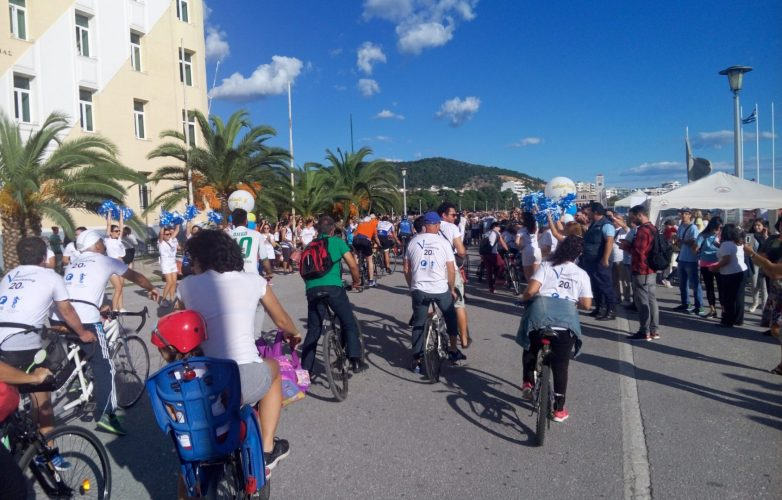 Ο Βόλος υποδέχτηκε την ποδηλατική ομάδα Wheeling2help