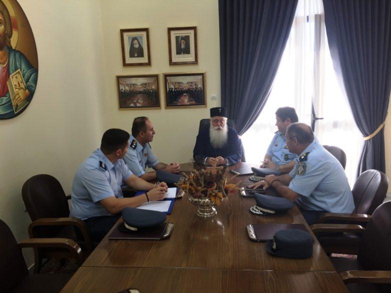 Επίσκεψη του Γενικού Περιφερειακού Δ/ντού Βορείου Ελλάδος της ΕΛ.ΑΣ. στον Σεβασμιώτατο