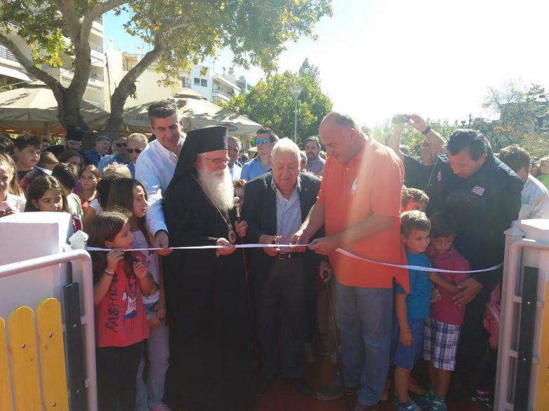 Παραδόθηκε η παιδική χαρά στον Άγιο Κωνσταντίνο