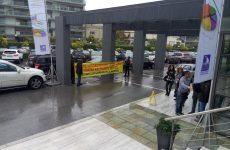 Διαμαρτυρία  εργαζομένων ΟΤΑ στο συνέδριο της ΚΕΔΕ