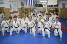 Προπόνηση στα Λιβάδια του Κιλκίς τα μέλη της Ελληνικής Ομάδος Shinkyokushinkai