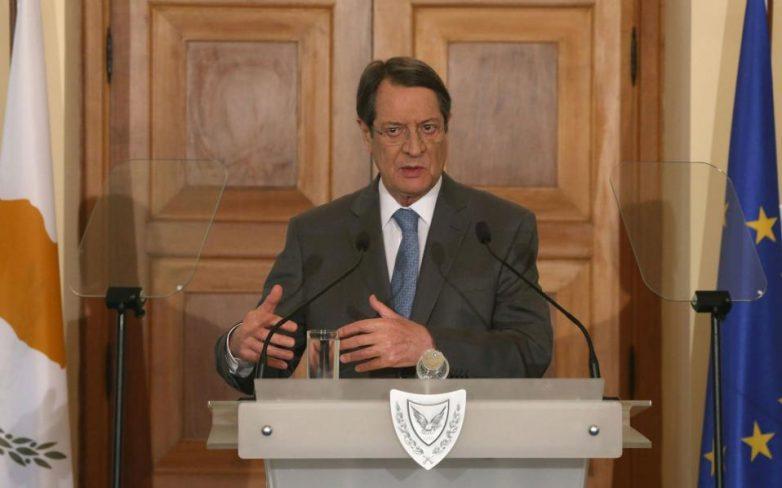 Διάγγελμα Αναστασιάδη το βράδυ προς τον κυπριακό λαό