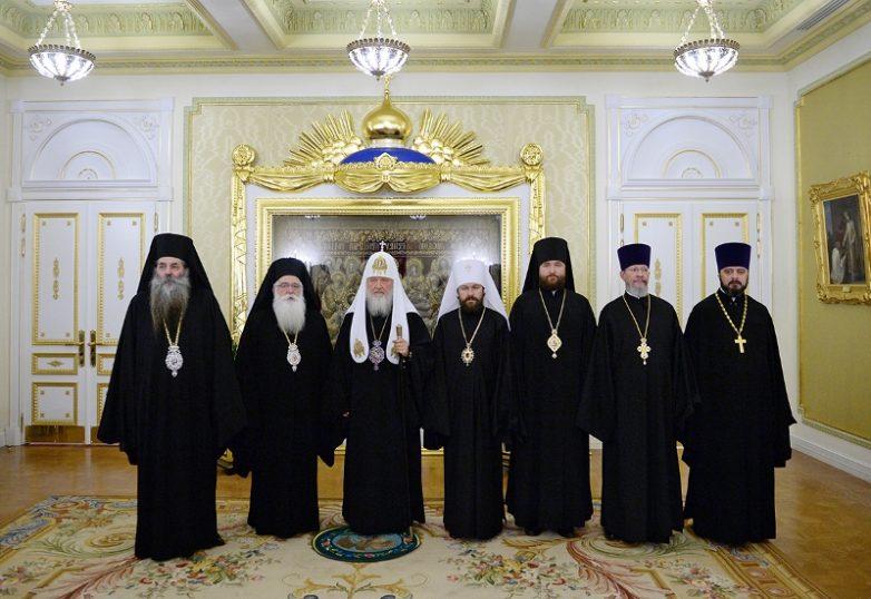 Συνάντηση  Μητροπολίτου Δημητριάδος Ιγνατίου με τον Πατριάρχη Μόσχας Κύριλλο