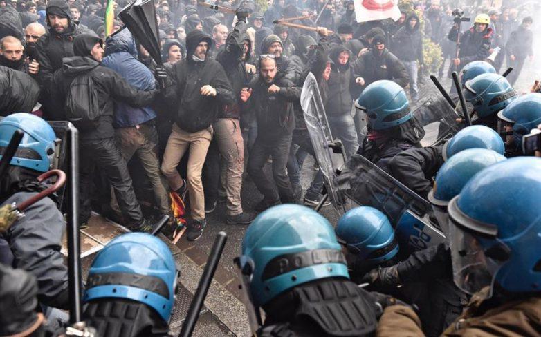 Φλωρεντία: Ταραχώδης διαδήλωση κατά του Ρέντσι