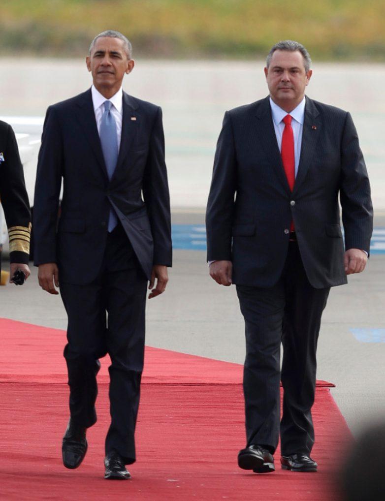 Καμμένος: Ο Ομπάμα βοήθησε την Ελλάδα σε δύσκολες στιγμές