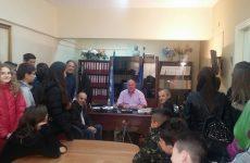 Επίσκεψη μαθητών του γυμνασίου Στεφανοβικείου  στον δήμαρχο για τη Χάρτα του Ρήγα