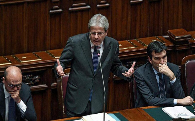 Ιταλία: Ψήφο εμπιστοσύνης από τη Βουλή έλαβε ο Πάολο Τζεντιλόνι