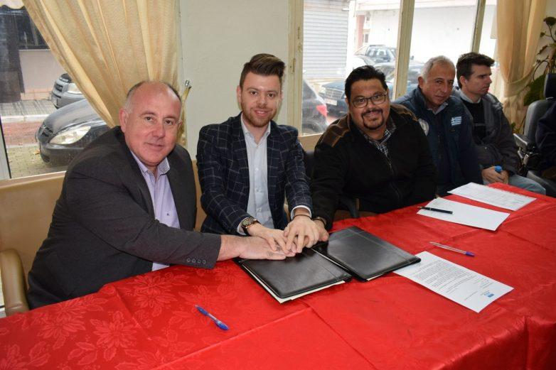 Υπογραφή συμφώνου συνεργασίας μεταξύ του ΚΕΠ Yγείας δήμου Ρήγα Φεραίου και του σωματείου κινητικά αναπήρων «Iππόκαμπος»