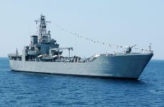 Στο Βόλο το αρματαγωγό «Λέσβος»