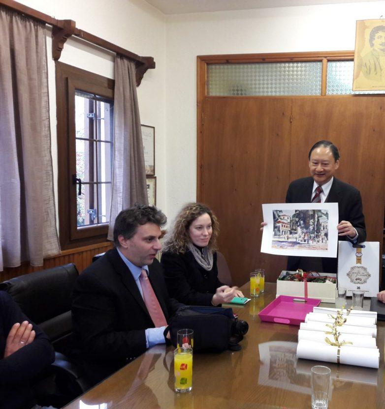 Ο πρέσβης της Ταϊβάν στον Αγροτικό Συνεταιρισμό Ζαγοράς