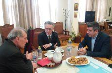 Επίσκεψη του γενικού πρόξενου της Γαλλίας και διευθυντή του Γαλλικού Ινστιτούτου στο Δήμο Βόλου