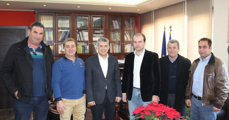 Ζητήματα  αγροτικού τομέα στη συνάντηση του περιφερειάρχη Θεσσαλίας με το Δ.Σ. του ΤΟΕΒ Ταυρωπού