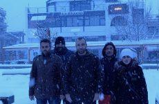 Αυτοψία της Χρυσής Αυγής στη Μαγνησία για τη σφοδρή χιονόπτωση