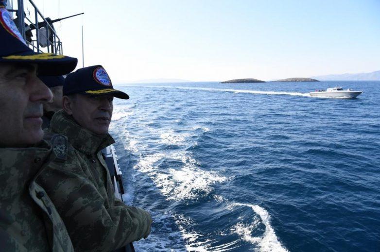 Φωτογραφίες από τα Ίμια δημοσίευσε το τουρκικό Επιτελείο