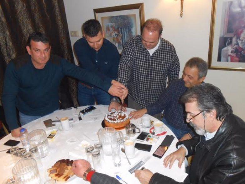 Την πίτα της έκοψε στο Βόλο η Ένωση Λειτουργών Γραφείων Κηδειών Ελλάδος