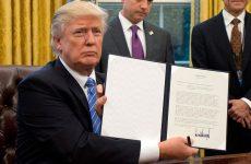 Επικυρώθηκε η αποχώρηση των ΗΠΑ από την TPP με προεδρικό διάταγμα Τραμπ