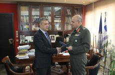 Συνάντηση περιφερειάρχη Θεσσαλίας με το νέο διοικητή της 1ης Στρατιάς, αντιστράτηγο Δημόκριτο Ζερβάκη
