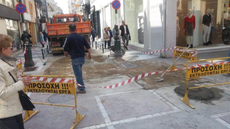 Διακοπή κυκλοφορίας στην οδό Σπ. Σπυρίδη