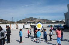 Χαρταετό πέταξαν τα προσφυγόπουλα στο ΜΟΖΑ