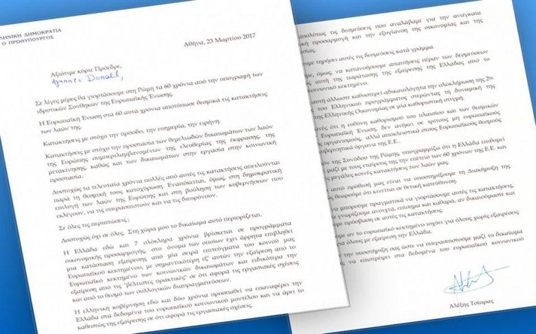 Επιστολή Τσίπρα προς Ευρωπαίους για τα εργασιάκα εν όψει Ρώμης