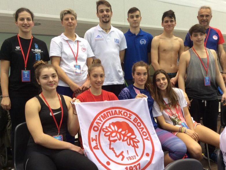 Γιορτή για τους κολυμβητές και κολυμβήτριες του Ολυμπιακού Βόλου