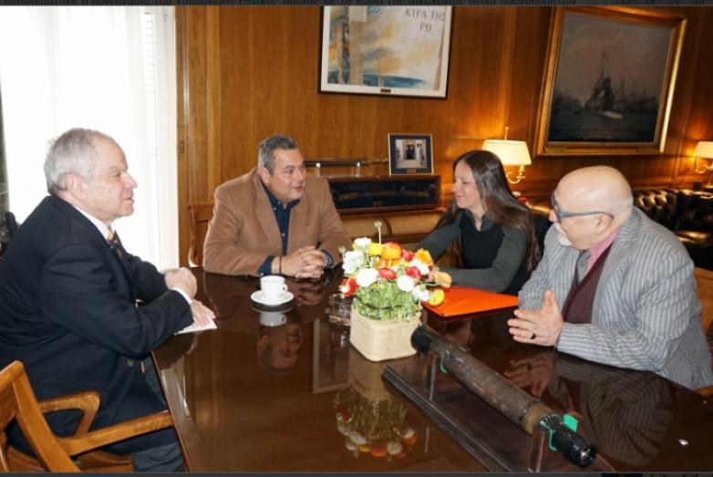 Συνάντηση Οικολόγων Πράσινων με τον υπ. Εθνικής Άμυνας, Π. Καμμένο