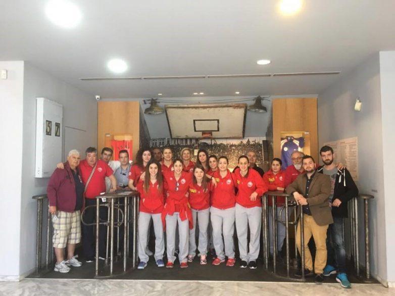 Ενίσχυσηκαι εκτόςαγωνιστικούχώρουγια την ομάδαμπάσκετ  του ΟλυμπιακούΒόλου