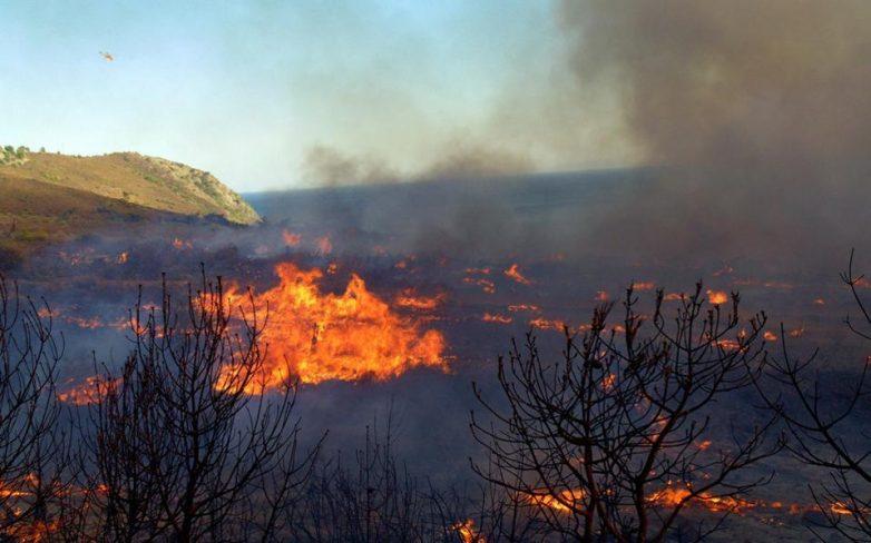 Ανεξέλεγκτη η πυρκαγιά στις Μαριές Ζακύνθου