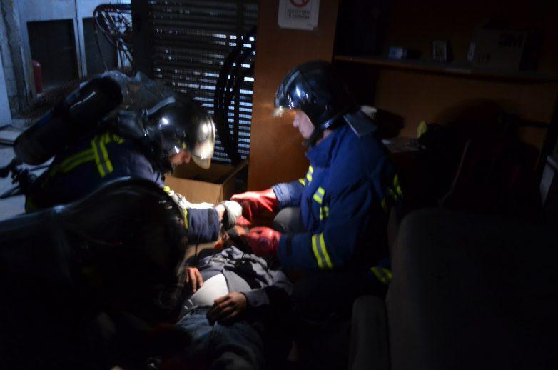 Άσκηση αντιμετώπισης πυρκαγιάς στην Β' ΒΙ.ΠΕ. Βόλου